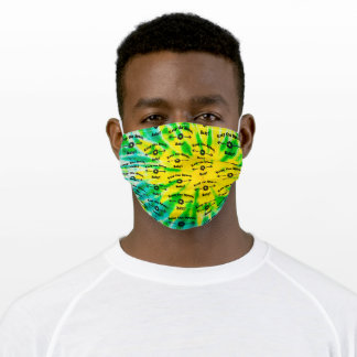 Tie Dye LEMON LIME Keep the Space, Baby! Adult Cloth Face Mask