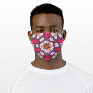 Tie-Dye like Pattern in Crimson & Lavender Adult Cloth Face Mask