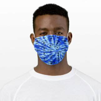 Tie Dye OCEAN Keep the Space, Baby! Adult Cloth Face Mask