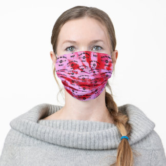 Tie Dye STRAWBERRY Keep the Space, Baby! Adult Cloth Face Mask