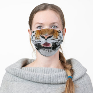 Tiger face big cat animal king adult cloth face mask