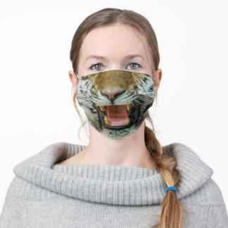 Tiger Face Teeth Growling Cat Adult Cloth Face Mask