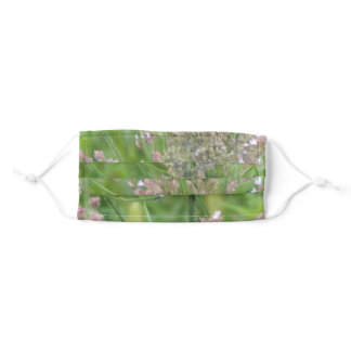 Tiny White And Purple Flowers Adult Cloth Face Mask