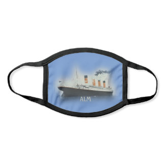 TITANIC Vintage White Star Line Blue Monogram Face Mask