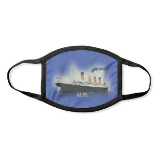 TITANIC Vintage White Star Line Ice Blue Monogram Face Mask