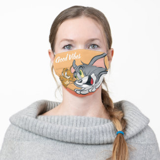 Tom and Jerry Best Buds Adult Cloth Face Mask