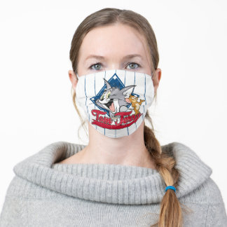 Tom And Jerry | Tom And Jerry On Baseball Diamond Adult Cloth Face Mask