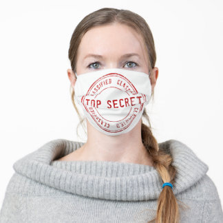Top Secret Novelty Adult Cloth Face Mask