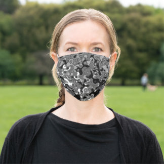 Topographic Greys Face Mask by Christina Kinetica