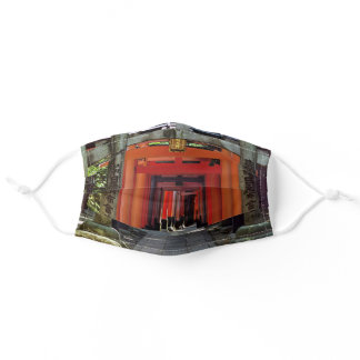 Torii gates - Kyoto, Japan, Asia Adult Cloth Face Mask