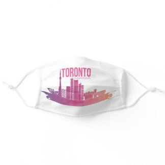 Toronto City Skyline Purple Cute Canada Day Adult Cloth Face Mask