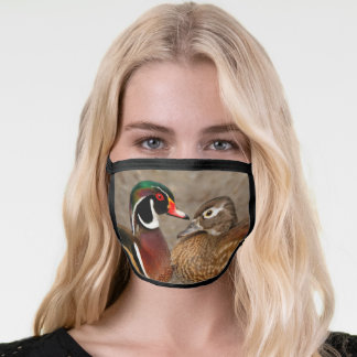 Touching Moment Between Wood Ducks Face Mask