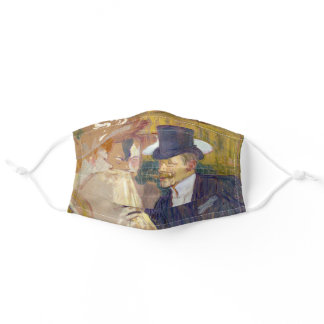 Toulouse-Lautrec - The Englishman at the Rouge Adult Cloth Face Mask