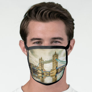 Tower Bridge London England Vintage Travel Face Mask