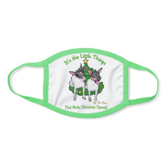 Toy Fox Terrier Christmas Face Mask