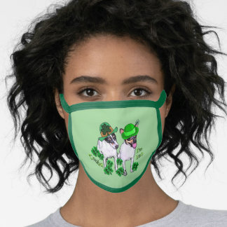 Toy Fox Terrier St. Patricks Day Face Mask