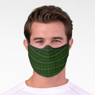 Traditional Irish Scottish Green Plaid Premium Face Mask