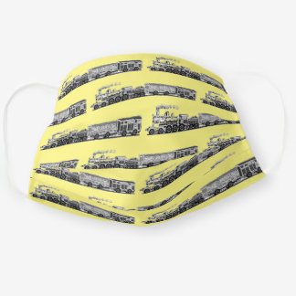 Train Collector Gift Adult Cloth Face Mask