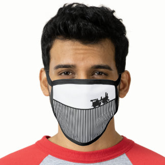 Train Engine Locomotive All-Over Print Face Mask