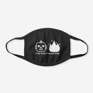 TRB Emoji Design Black Cotton Face Mask