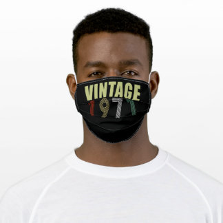 Trending 50th Birthday vintage 1971 Adult Cloth Face Mask
