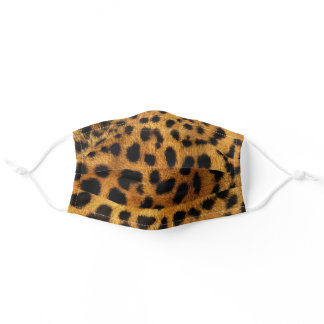 trendy chic animal pattern brown leopard print adult cloth face mask