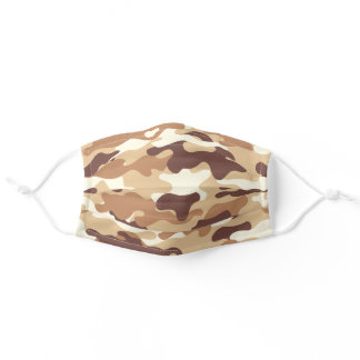 Trendy desert tan camo pattern cool camouflage adult cloth face mask