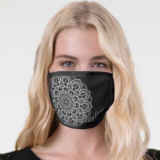 Trendy Mandala Design with black & white signature Face Mask