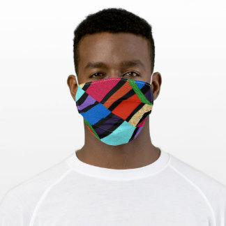 Trendy Patchwork Colors Adult Cloth Face Mask