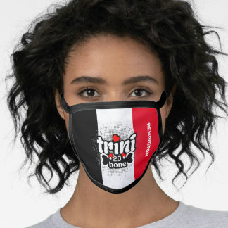 Trini to the Bone with Name Template Face Mask