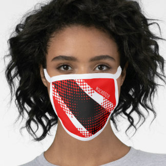 Trinidad and Tobago Dot Pattern Flag (Your Name) Face Mask