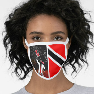 Trinidad and Tobago Flag with Character and Name Face Mask