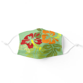 Tropic Flowers Adult Cloth Face Mask