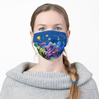 Tropical Fishes Adult Cloth Face Mask