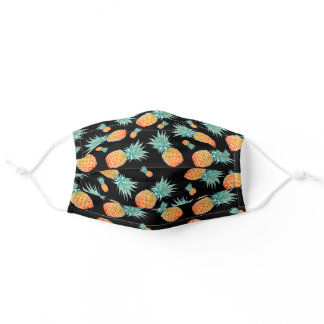 Tropical Fruit | Pineapple Pattern Adult Cloth Fac Adult Cloth Face Mask