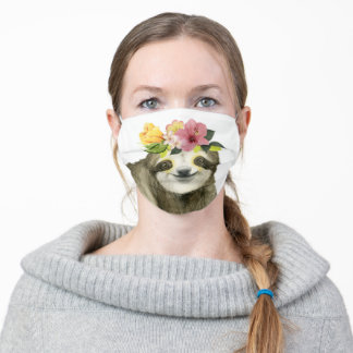 Tropical Halo | Sweet Sloth Adult Cloth Face Mask