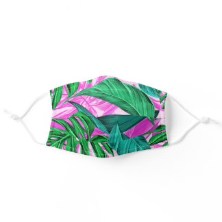 Tropical Leaves Adult Cloth Face Mask