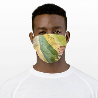 TROPICAL MULTI-COLOURED LEAVES ADULT CLOTH FACE MASK