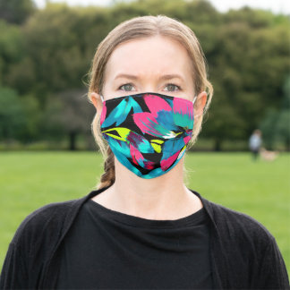 Tropical Neon Splash in Paradise Adult Cloth Face Mask