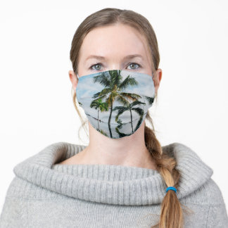 Tropical Palm Trees in Paradise Adult Cloth Face Mask
