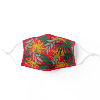 Tropical Plants Hawaiian Motif Adult Cloth Face Mask