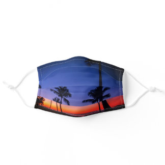 Tropical Sunset Adult Cloth Face Mask