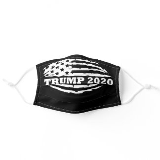 Trump 2020 Distressed American Flag Adult Cloth Face Mask