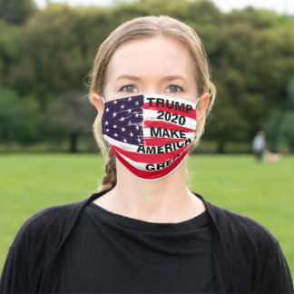 Trump 2020 Make America Great Adult Cloth Face Mask