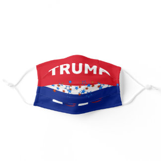 Trump 2020 stripes with stars adult cloth face mask