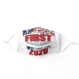 TRUMP  AMERICA FIRST ADULT CLOTH FACE MASK