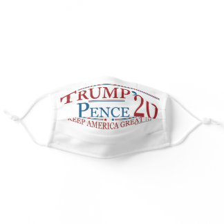 TRUMP PENCE 2020 ADULT CLOTH FACE MASK