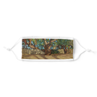 Tucson Botanical Gardens Impressionistic Oil Paint Adult Cloth Face Mask