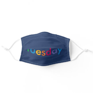 Tuesday Navy Adult Cloth Face Mask