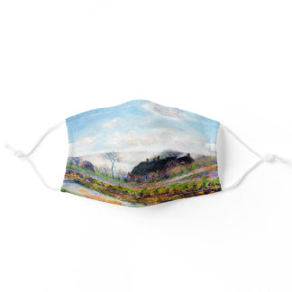 Tulip Fields in the Netherlands, Monet Adult Cloth Face Mask